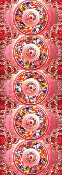 中国风牡丹元旦春节生日祝寿节日庆典演出舞台