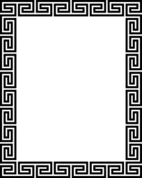 简洁的回纹cdr矢量边框