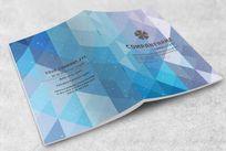 深蓝色格子画册封面