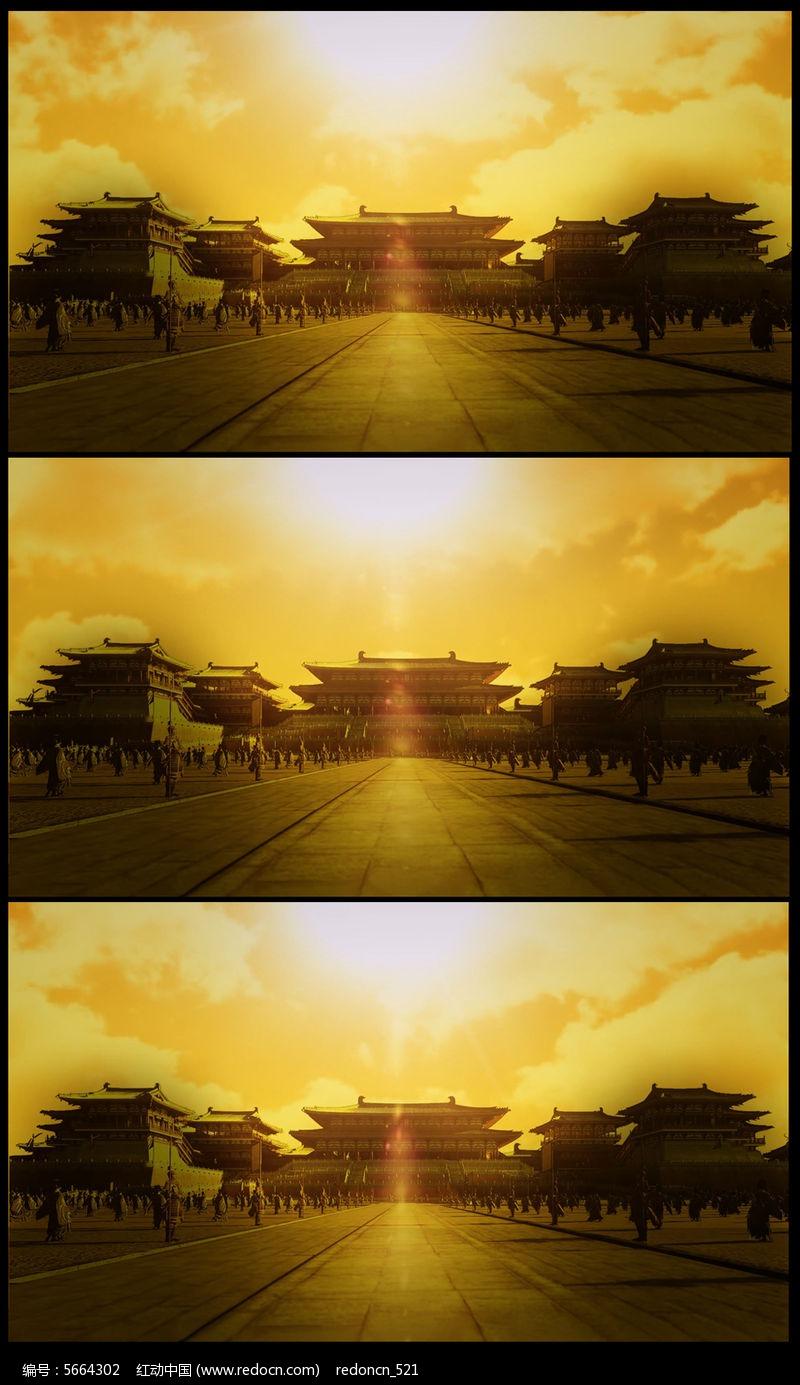 大气皇宫高清背景视频图片
