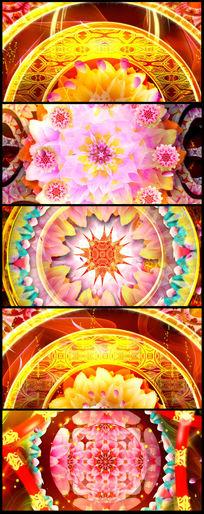 大气喜庆红牡丹花视频素材