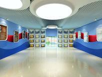 光电学校荣誉室展厅3d模型下载
