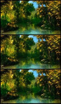 童话森林萤火虫森系视频