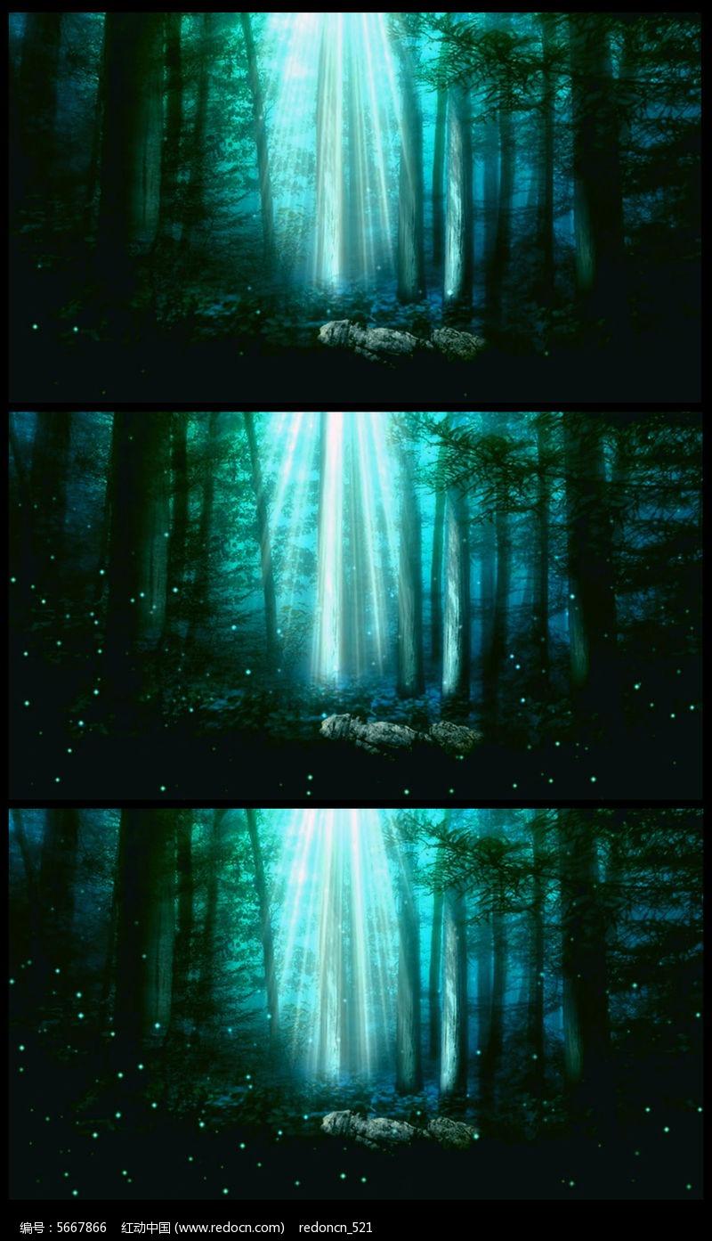 唯美仙境神秘森林led背景视频素材