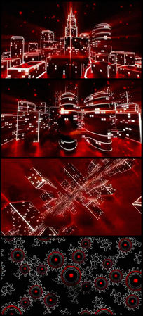 2016猴年光影城市灯光线条立体穿梭视频