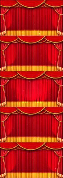 春晚新年戏曲相声幕布舞台背景