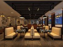 港式餐厅3d模型下载 max