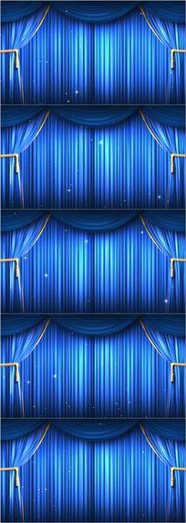高清蓝色晚会幕布LED背景
