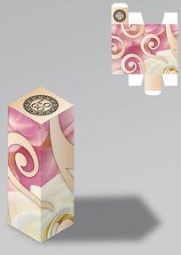 花纹设计清新包装盒