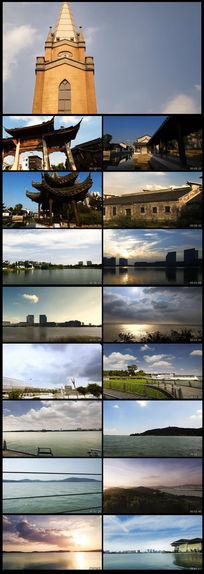 江苏无锡延时摄影城市风光高清视频