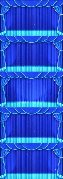 蓝色LED幕布晚会背景