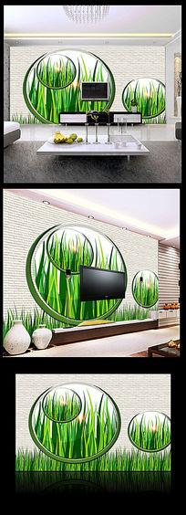 绿色花园背景墙