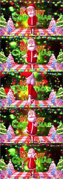 圣诞节快乐舞台led视频