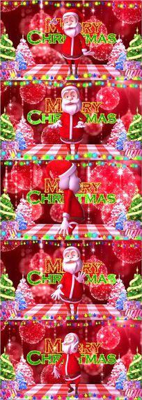 圣诞节新年舞台背景