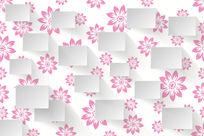 时尚粉红色花朵墙画