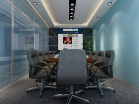 现代会议室3d模型下载
