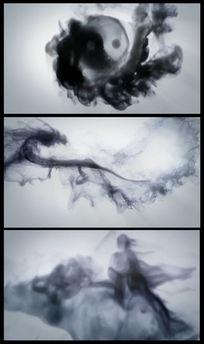 中国风中国龙水墨八卦太极图视频
