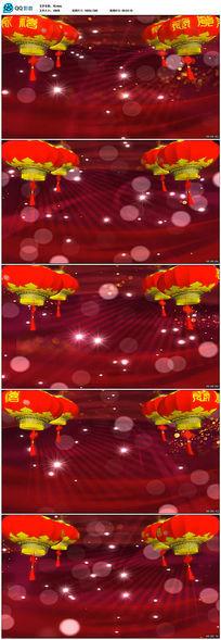 2016春节喜庆粒子灯笼视频