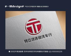 TLJ字母洗车店logo标识大气矢量源文件