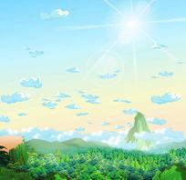 原创分层flash俯视森林大场景设计 FLA