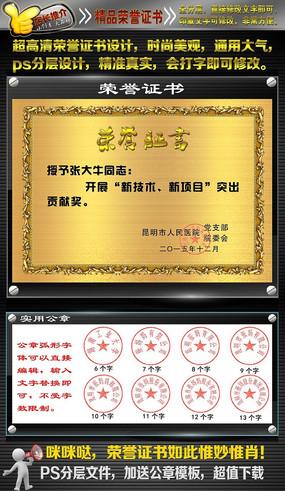 金属效果高清荣誉证书