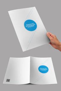 白蓝简约企业画册封面