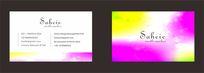彩色色彩简洁名片