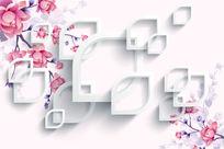 典雅花卉背景花纹