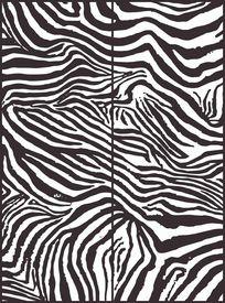 黑白简约斑马纹移门图案