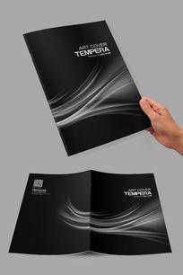 黑色高端企业画册封面