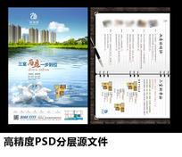 湖景地产广告DM宣传单设计