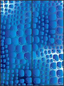 蓝色动物点状花纹移门图案