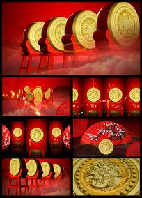 喜庆中国风水鼓鼓舞LED视频
