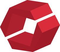红色立体房地产logo矢量