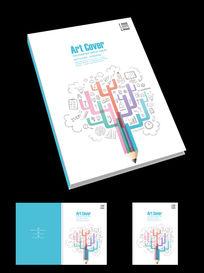 多彩铅笔创意宣传画册封面设计