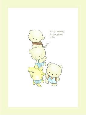儿童印花动物形象图案