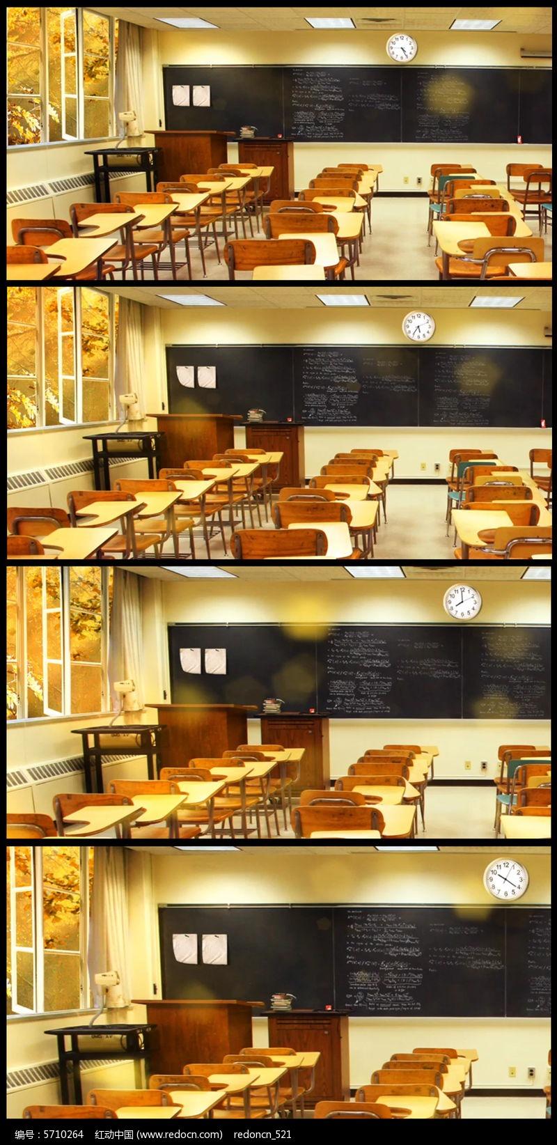 怀旧温馨教师课堂背景视频图片