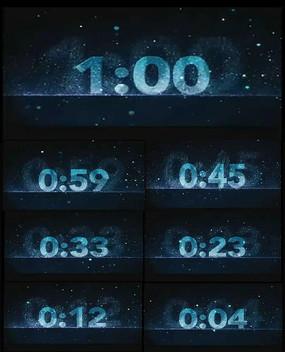 时钟数字一分钟倒计时动态视频图片