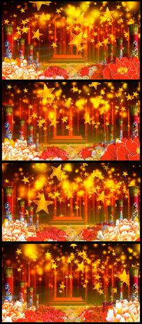 天安门前民族柱背景舞台LED背景