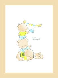婴童卡通用品图案 CDR