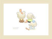 婴童印花卡通动物图案