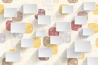 典雅格子花卉背景装饰