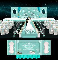 蒂芙尼蓝色主题婚庆背景设计