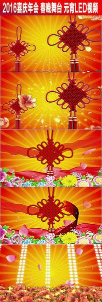 喜庆中国风中国结花朵民歌舞背景