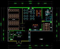 办公设计cad平面布局两套方案办公室世贸B座设计方案