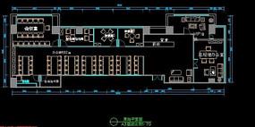 办公室设计职场办公cad空间布局cad平面设计
