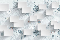 典雅卡通花卉墙纸