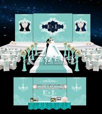 蒂芙尼蓝色主题婚礼设计 婚庆舞美设计 AI