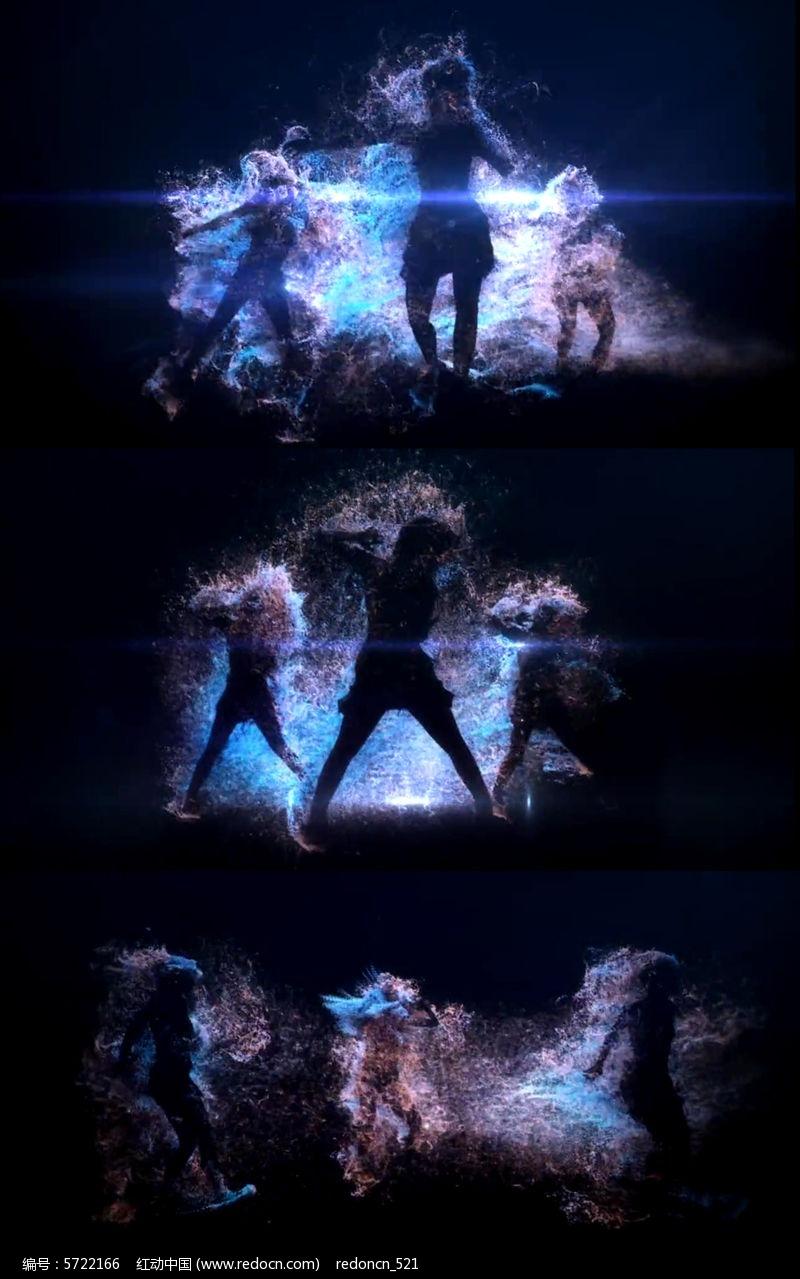 原创设计稿 视频素材/片头片尾/ae模板 动态|特效|背景视频 动感舞蹈图片