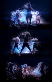 动感舞蹈劲舞人影闪动视频